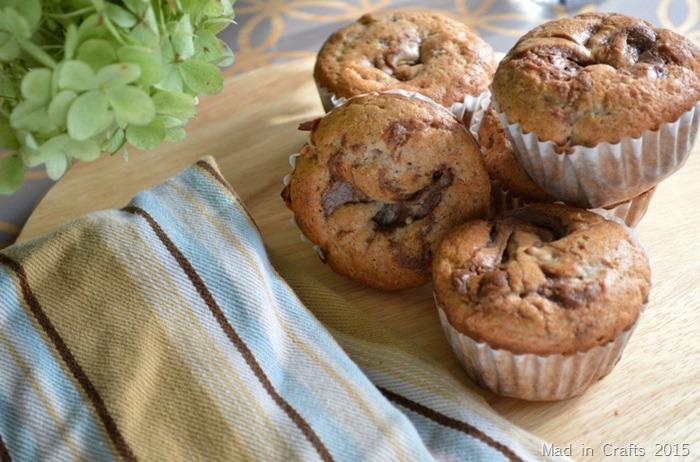 15 Minute Chocolate Banana Muffins