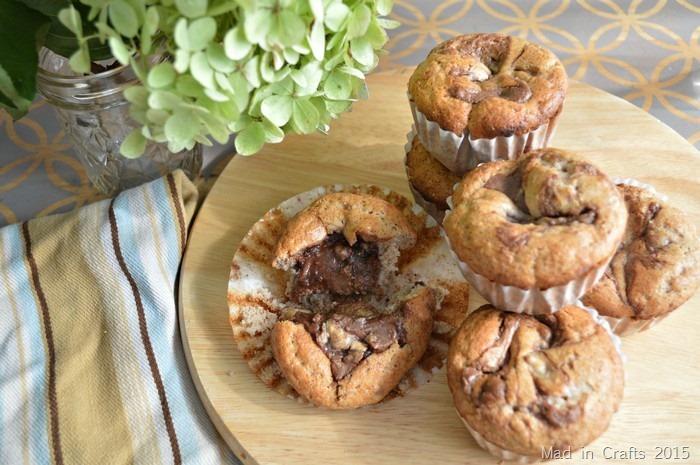 Quick Chocolate Banana Muffins