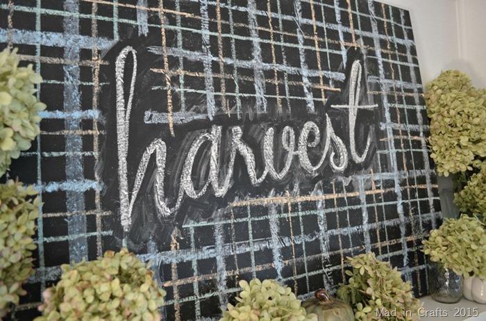 harvest chalkboard
