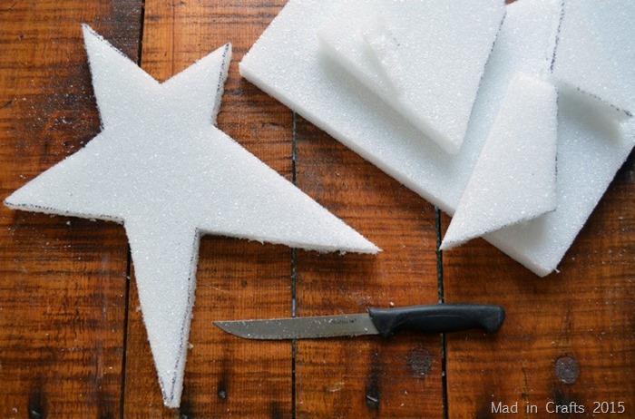 Cut Star out of Foam