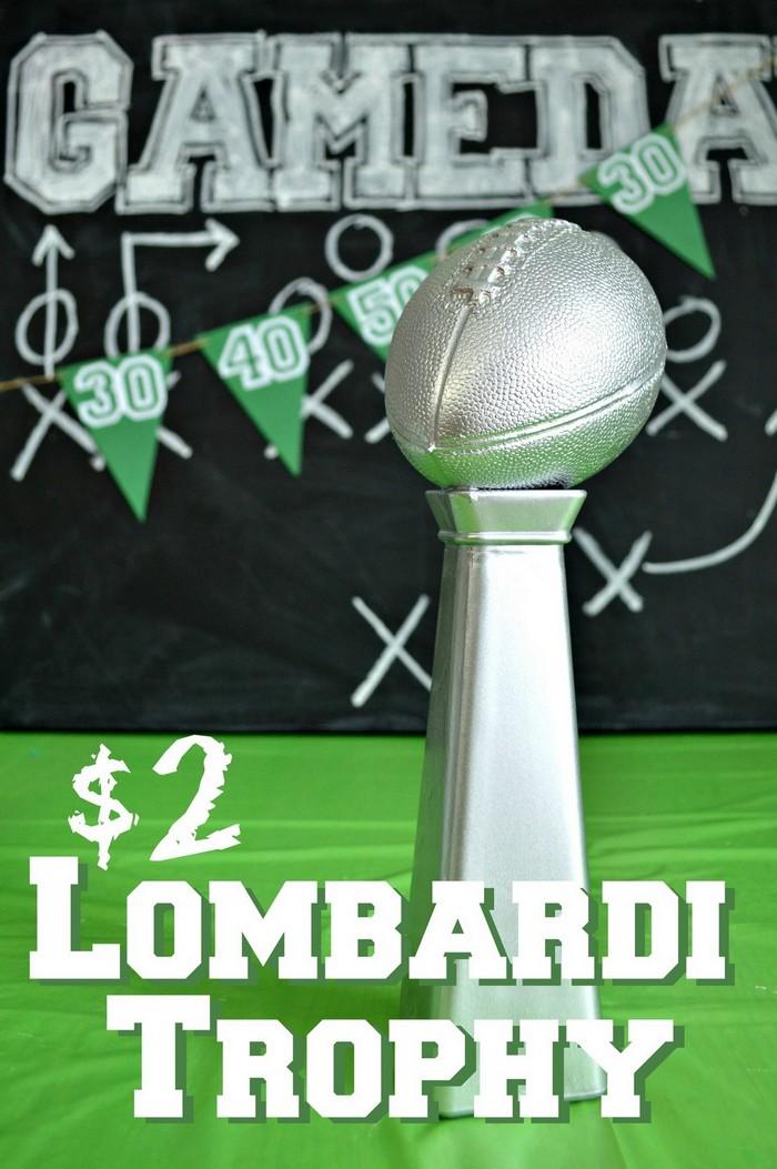 Super bowl Lombardi Trophy centerpiece