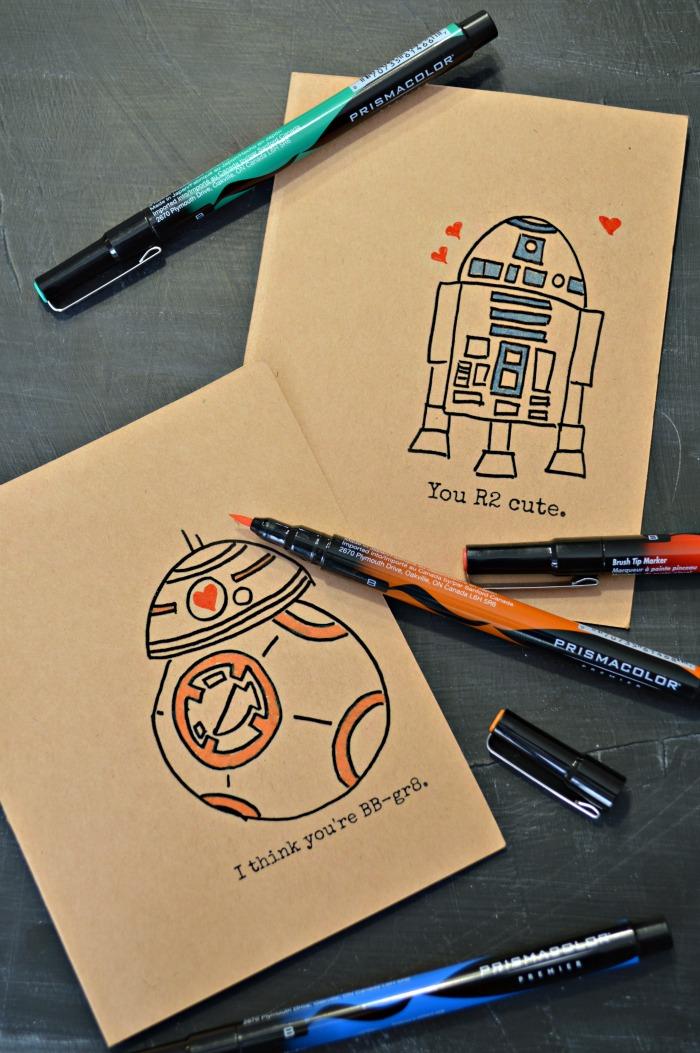 Mad in Crafts Hand-drawn-Star-Wars-Valentines