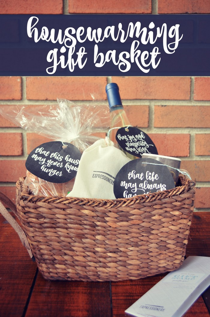 Housewarming Gift Basket Tutorial