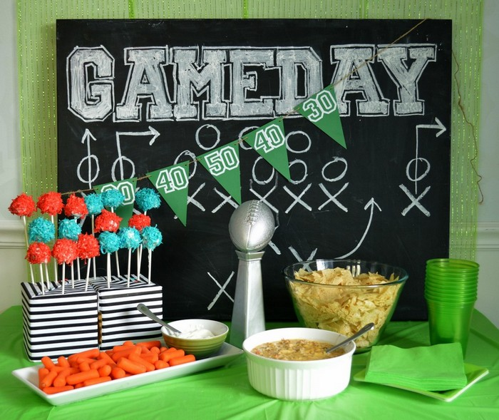 football party snack table