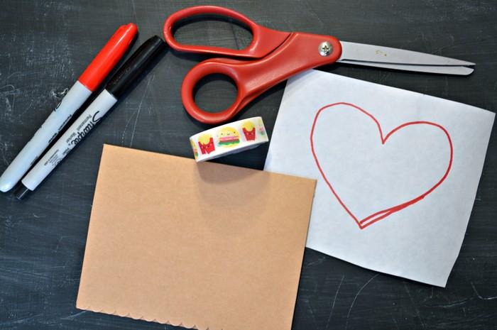 valentine card supplies