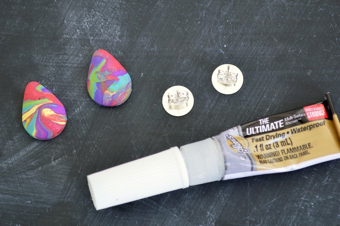 clay easter egg earrings