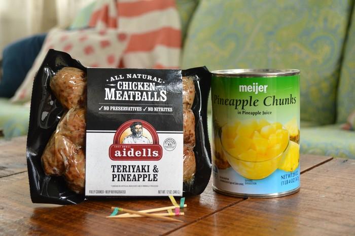 Pineapple Meatball Bites Ingredients