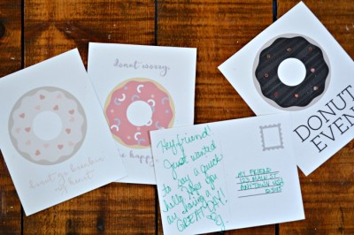 DONUT POSTCARDS BECAUSE… DONUTS