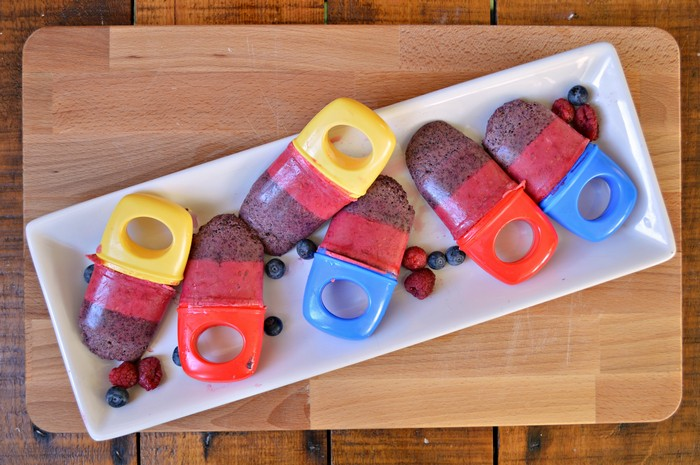 Summer Berry Popsicles