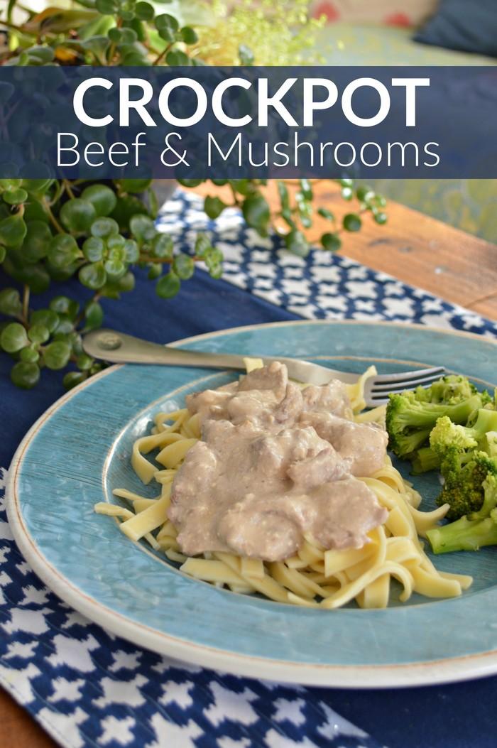 Crockpot Beef and Mushrooms Recipe