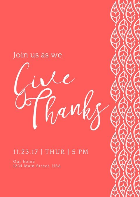 THANKSGIVING PRINTABLES – INVITATION, PLACE CARDS & MENUS
