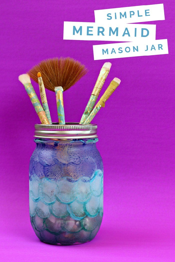 SUPER EASY MERMAID MASON JAR