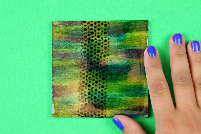 INK DYED WOODEN TILES