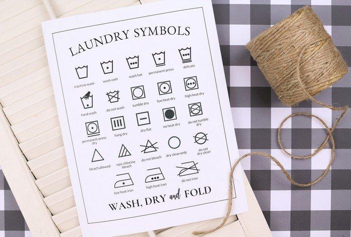 printable laundry symbols chart crafts