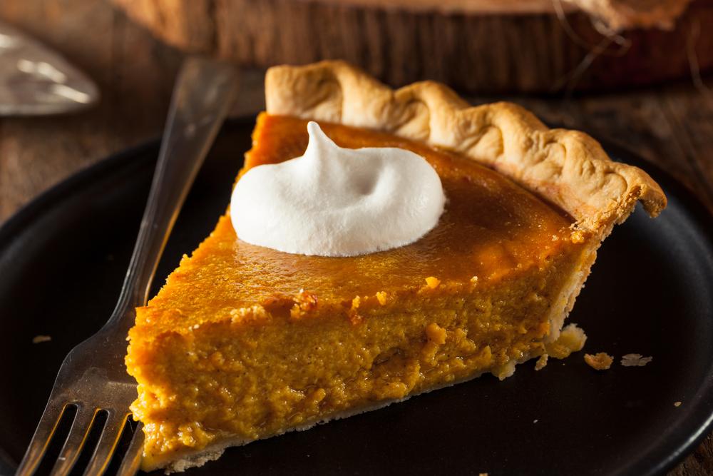 fireball pumpkin pie on a plate