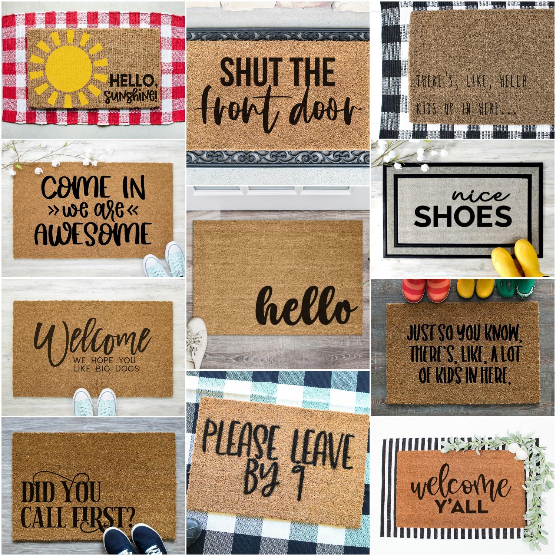 collage of doormar SVG files