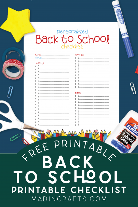 printable back to school list with school supplies
