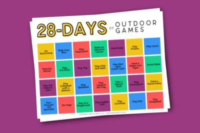 free printable outdoor activity challenge calendar