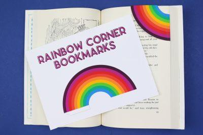 corner bookmark printable on a book