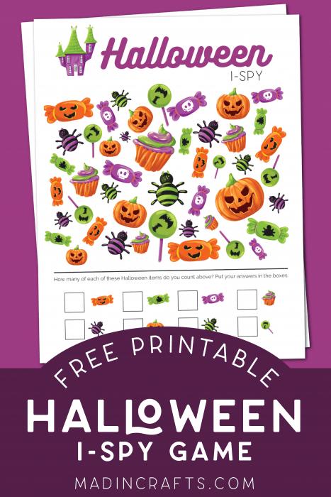 Printable Halloween I-Spy Game for Kids