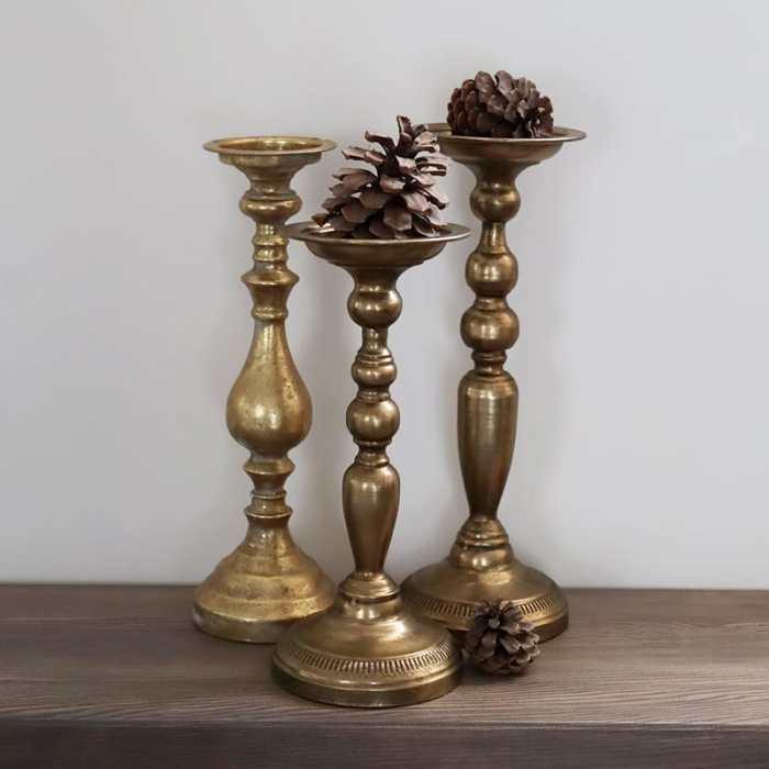 Aukštos auksinės žvakidės nuoma