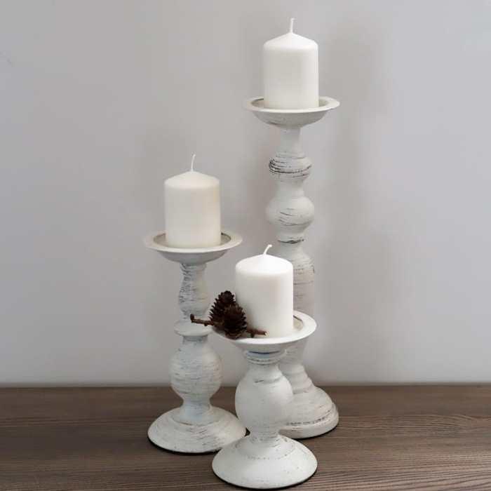 Baltos metalinės žvakidės nuoma