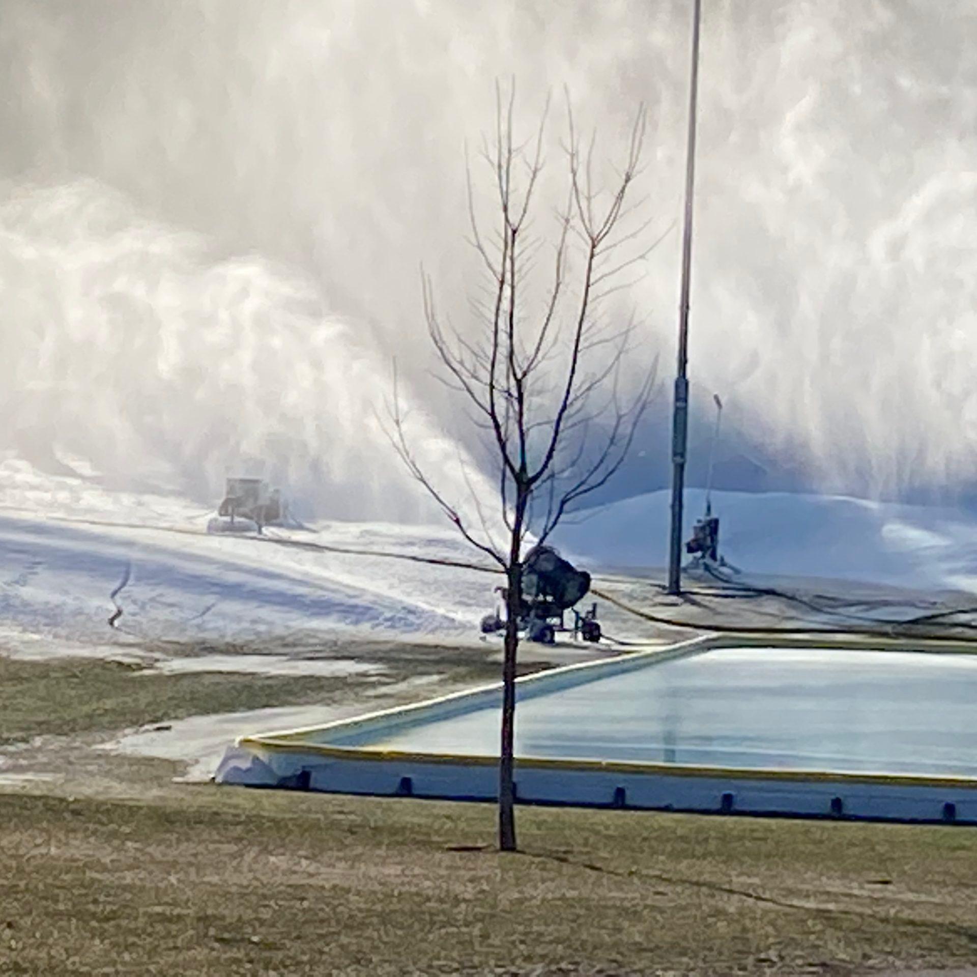 Snowmaking at Elver Park Photo provided by Audra Geldmacher