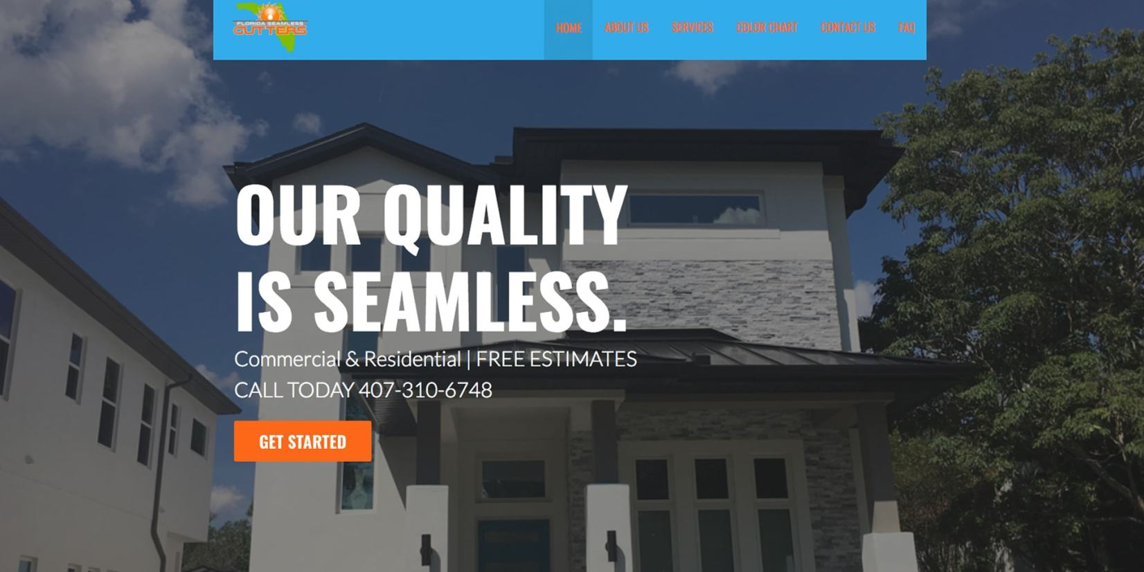web page design - FL-Seamless-Gutters