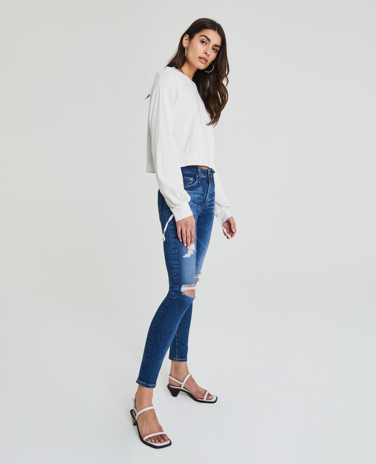 Farrah Ankle Skinny - 8 Years Parallel Destructed - ShopMadisonbelle