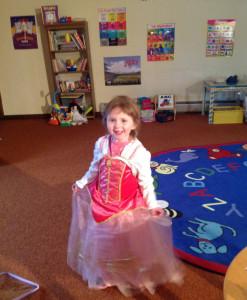 Danielle Winn in Storytime Room
