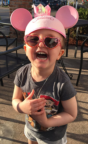 Three-year-old Grace Ratley of Canastota