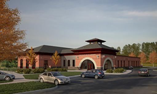 New Oneida Public Library building rendition.