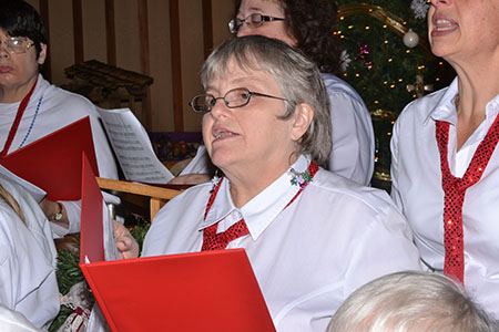 Pictured is Rosalie Leggett, member of the SunShine Choir.