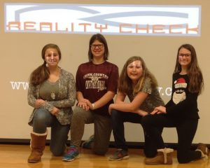 Pictured from left are students Catherine Bradbury, Bailey Foster, Emma Powers and Sara Fragale.