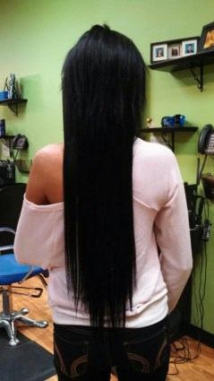 After sew-in extensions