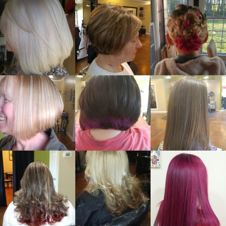 A sampling of our exciting hair styles. Schedule an appointment today!