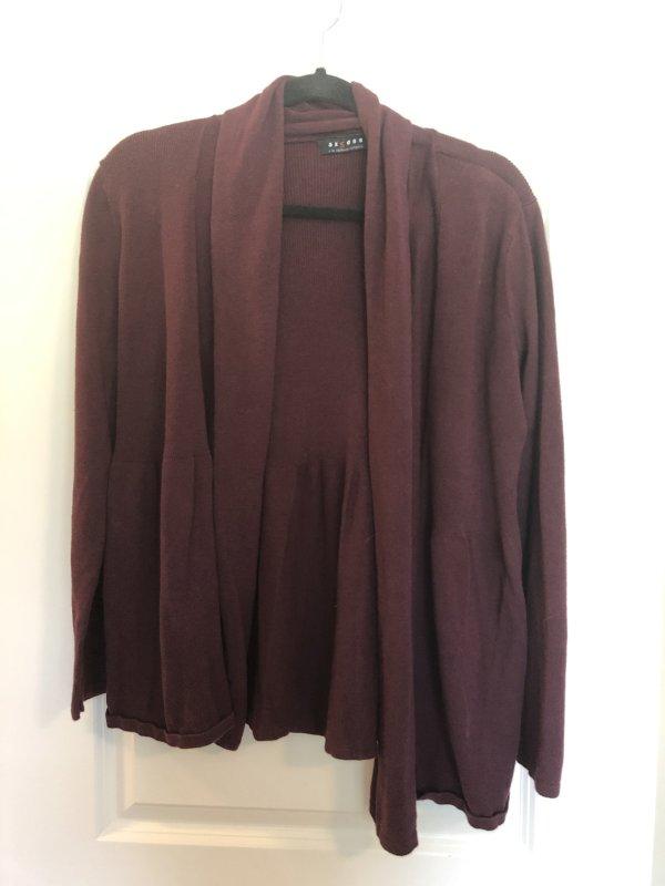 Access medium purple cardigan sweater
