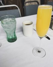 First mimosa and coffee