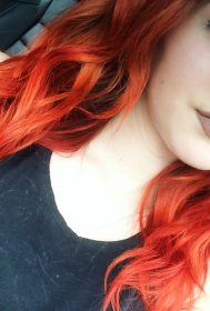 Fire red hair