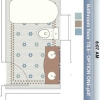 Bathroom Floor Tile Pattern, Take One
