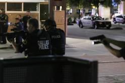 Dallas police during shootout
