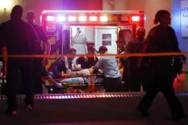Dallas police shooting . ambulance