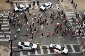 Dallas Protest against police shooting