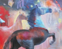 Leslie Bender-Fall-of-the-Empire-40-x-60-inches-acrylic-pastel-canvas-2014-Detail-480x384