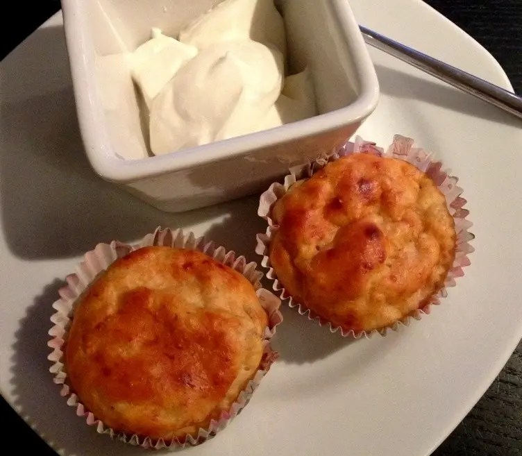 Low carb bananmuffins