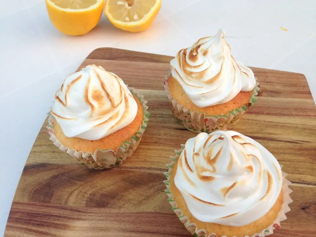 Citron cupcakes med marengs