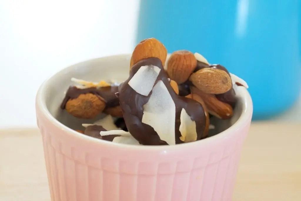 Chokoladebarer med mandler