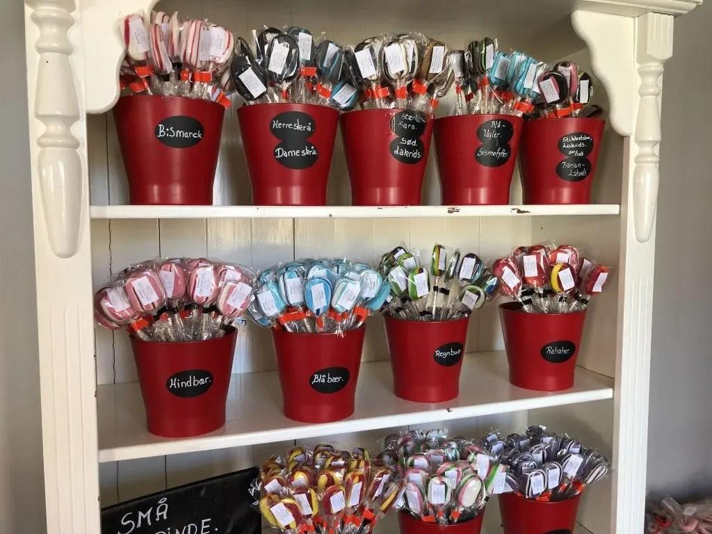 Isbutikker og søde sager på Fyn