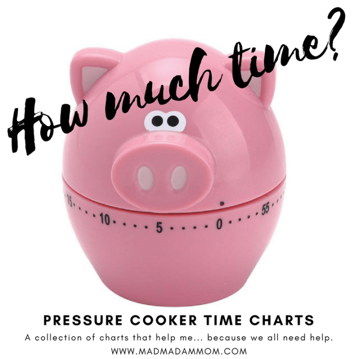 Food: Instant Pot / Pressure Cookers – Cook Times
