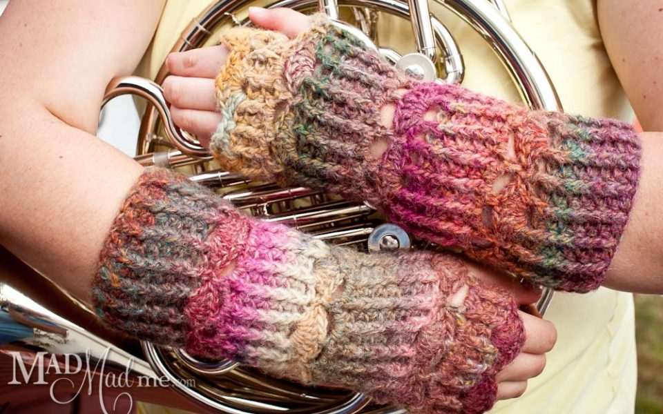 crochet fingerless glove pattern